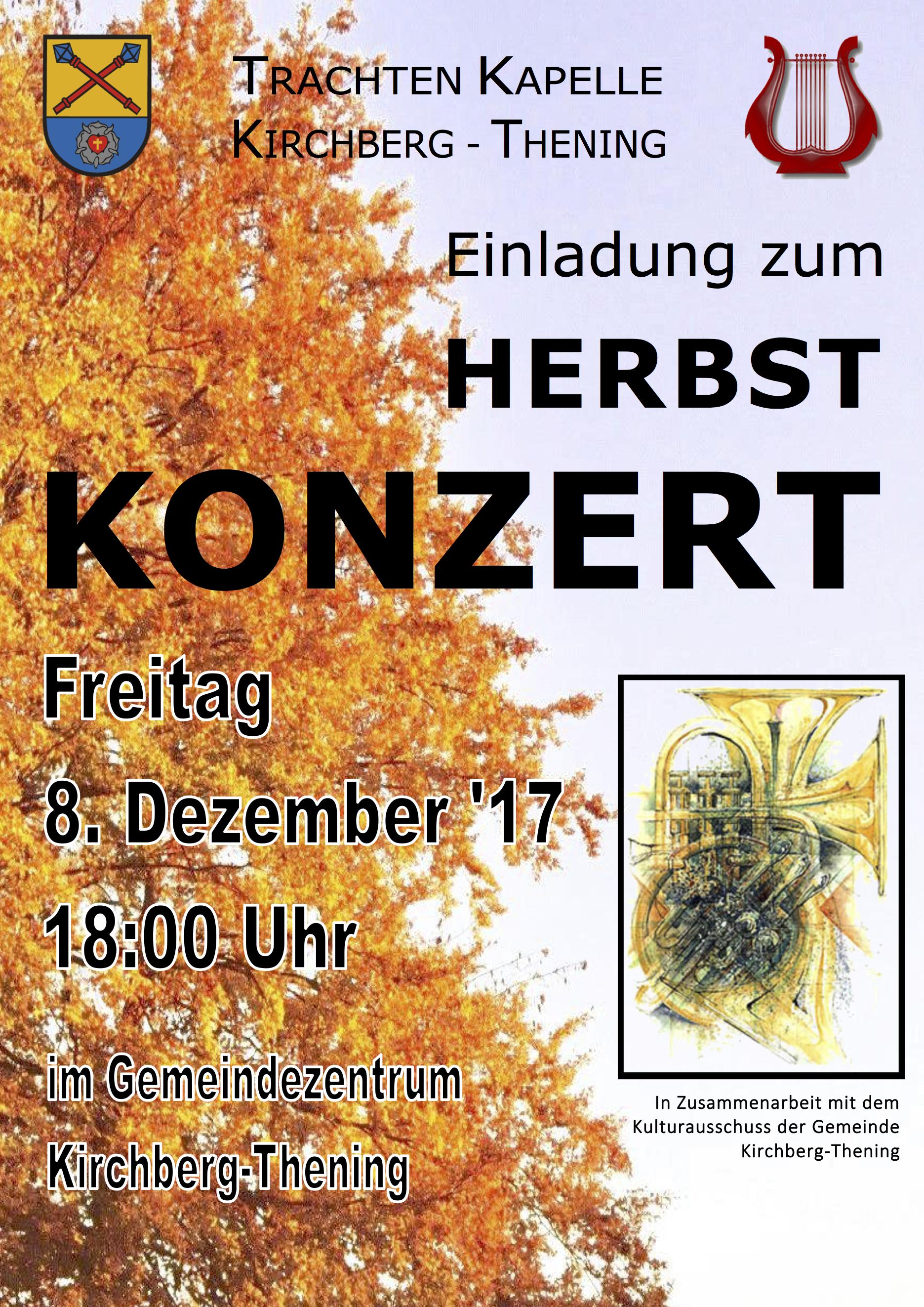 Herbstkonzert Plakat 2017